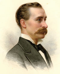 "Philanthropist Edward Tuck (1842–1938), watercolor on paper, c. 1880.  ""Unlike too large a proportion of men who love to praise their own works, Mr. Tuck prefers to let his works praise him."" New Hampshire Historical Society."