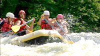Rafting on the Rapid River