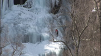 Ice Climbing on Frankenstein Cliff's